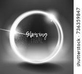 circular  eclipse flare  swirl... | Shutterstock .eps vector #736359847