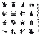 16 vector icon set   cleanser ... | Shutterstock .eps vector #736366027