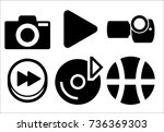 play button icon | Shutterstock .eps vector #736369303