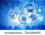 concept of modern it technology ... | Shutterstock . vector #736384903