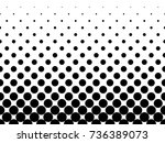 halftone background of black... | Shutterstock .eps vector #736389073