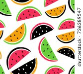 abstract colorful slices of... | Shutterstock .eps vector #736389547