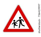 children crossing | Shutterstock .eps vector #736419997