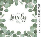vector floral card design ...   Shutterstock .eps vector #736422007
