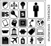 set of 22 business icons  high... | Shutterstock .eps vector #736436263
