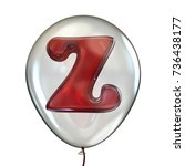 letter z in transparent balloon ... | Shutterstock . vector #736438177