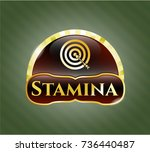 golden emblem or badge with... | Shutterstock .eps vector #736440487