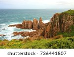 beautiful australian landscape... | Shutterstock . vector #736441807