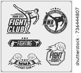 set of fighting club emblems ...   Shutterstock .eps vector #736444807