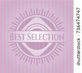 best selection pink emblem.... | Shutterstock .eps vector #736474747