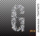 alphabet of sparkling confetti. ...