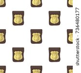 a badge  a police badge.... | Shutterstock .eps vector #736480177
