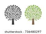 ornamental tree  logo. nature ... | Shutterstock .eps vector #736480297