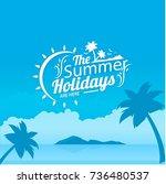holidays vector | Shutterstock .eps vector #736480537