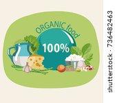 organic natural food. a... | Shutterstock .eps vector #736482463