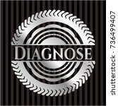 diagnose silver emblem or badge | Shutterstock .eps vector #736499407