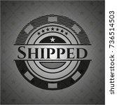 shipped retro style black emblem | Shutterstock .eps vector #736514503