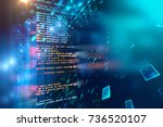 programming code abstract... | Shutterstock . vector #736520107