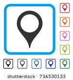 map marker icon. flat grey... | Shutterstock .eps vector #736530133