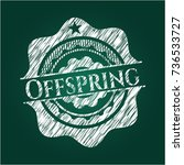 offspring with chalkboard... | Shutterstock .eps vector #736533727