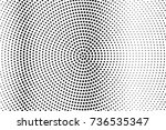 abstract futuristic halftone... | Shutterstock .eps vector #736535347