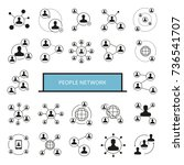 people network  people... | Shutterstock .eps vector #736541707