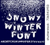 christmas snowy alphabet....   Shutterstock .eps vector #736541953