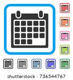 calendar appointment icon. flat ... | Shutterstock .eps vector #736544767