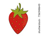 strawberry sweet fruit | Shutterstock .eps vector #736548643