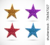 abstract colorful glitter stars ... | Shutterstock .eps vector #736567327