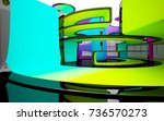 abstract white and colored... | Shutterstock . vector #736570273