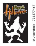 halloween greeting card and... | Shutterstock .eps vector #736577467