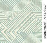 seamless hand drawn stripe... | Shutterstock .eps vector #736578967