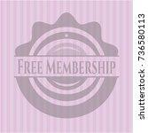 free membership vintage pink... | Shutterstock .eps vector #736580113