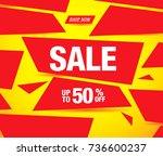 sale banner layout design | Shutterstock .eps vector #736600237