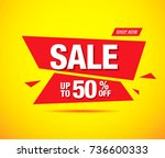 sale banner layout design | Shutterstock .eps vector #736600333