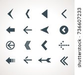 vector arrow icon set