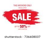 sale banner layout design   Shutterstock .eps vector #736608037