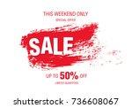 sale banner layout design   Shutterstock .eps vector #736608067