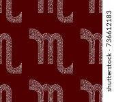 scorpio zodiac sign. vector... | Shutterstock .eps vector #736612183