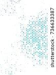 light blue  green illustration... | Shutterstock . vector #736633387