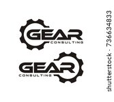 gear logo design template vector | Shutterstock .eps vector #736634833