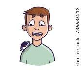 arachnophobia. the fear of... | Shutterstock .eps vector #736636513