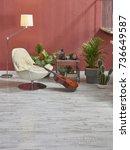 modern loft area interior... | Shutterstock . vector #736649587