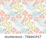 floral seamless pattern. part... | Shutterstock .eps vector #736661917