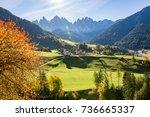 santa maddalena  val di funes ...   Shutterstock . vector #736665337