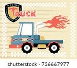 vector cartoon illustration of... | Shutterstock .eps vector #736667977