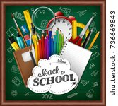 vector illustration of school... | Shutterstock .eps vector #736669843