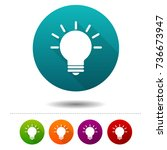 light bulb icons. idea signs.... | Shutterstock .eps vector #736673947