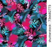 multilayer vector seamless... | Shutterstock .eps vector #736682773